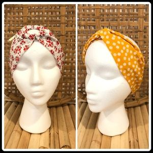 Nordstrom Berry Twist Knotted Headband Floral Pack
